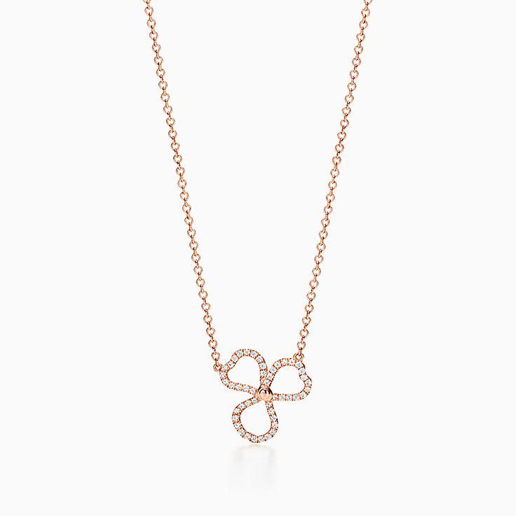 Tiffany Paper Flowers™:Pendente Open Flower com diamante