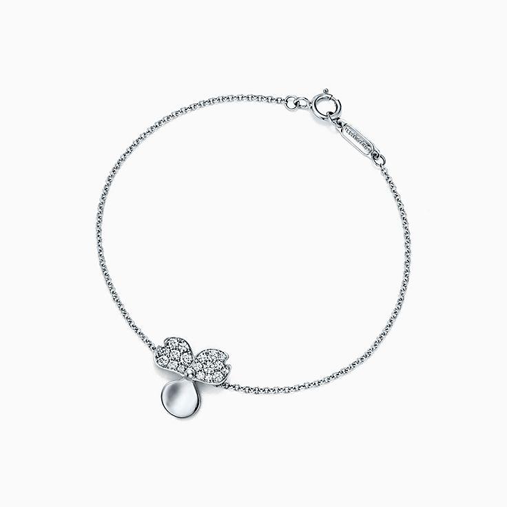 Tiffany Paper Flowers™:Pulseira Flower com diamante