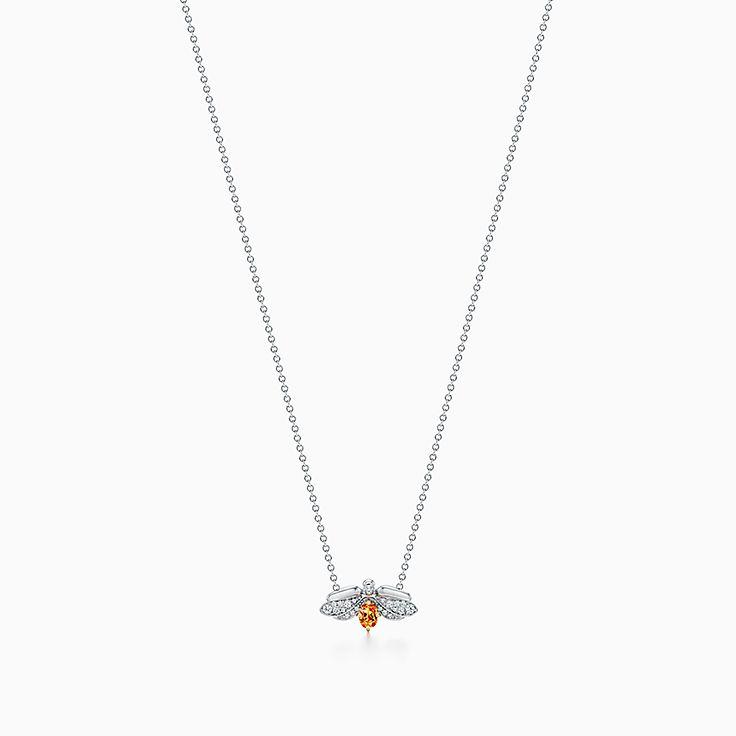 Tiffany Paper Flowers®:Spessartine Firefly Pendant