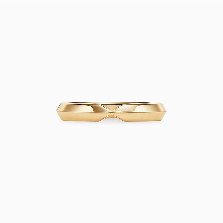 Tiffany® Setting:嵌套窄版結婚戒指