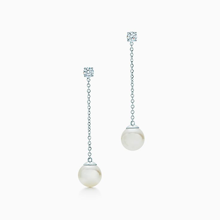 Tiffany Signature® Pearls:Drop Earrings
