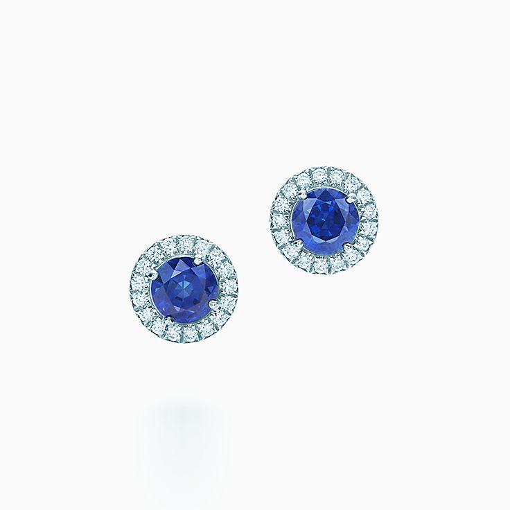 Tiffany Soleste: Brincos de diamantes e safiras
