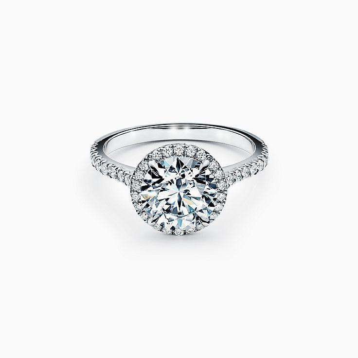 Tiffany Soleste Round Brilliant Engagement Ring in Platinum