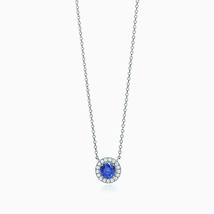 Tiffany Soleste:Sapphire and Diamond Pendant