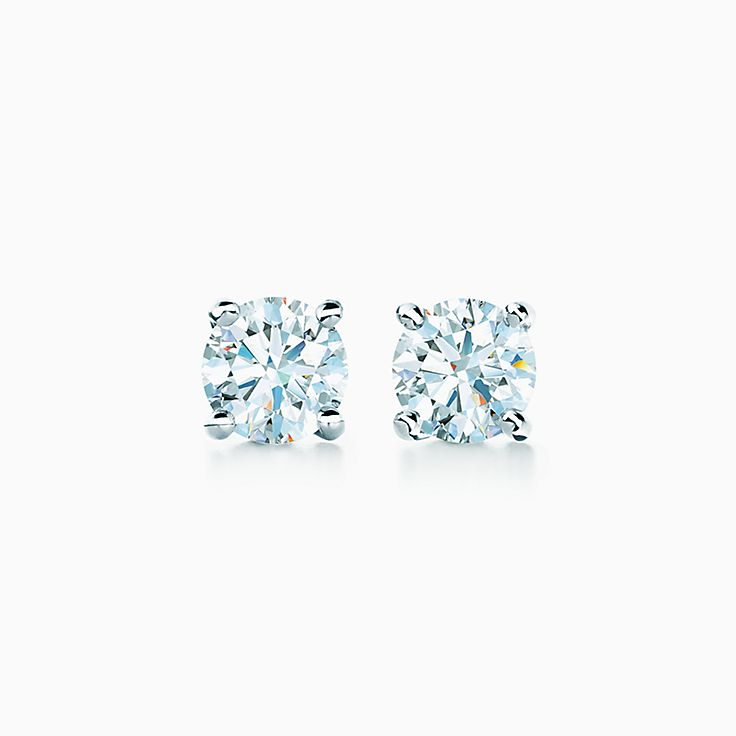 Tiffany Solitaire: 鑽石耳環