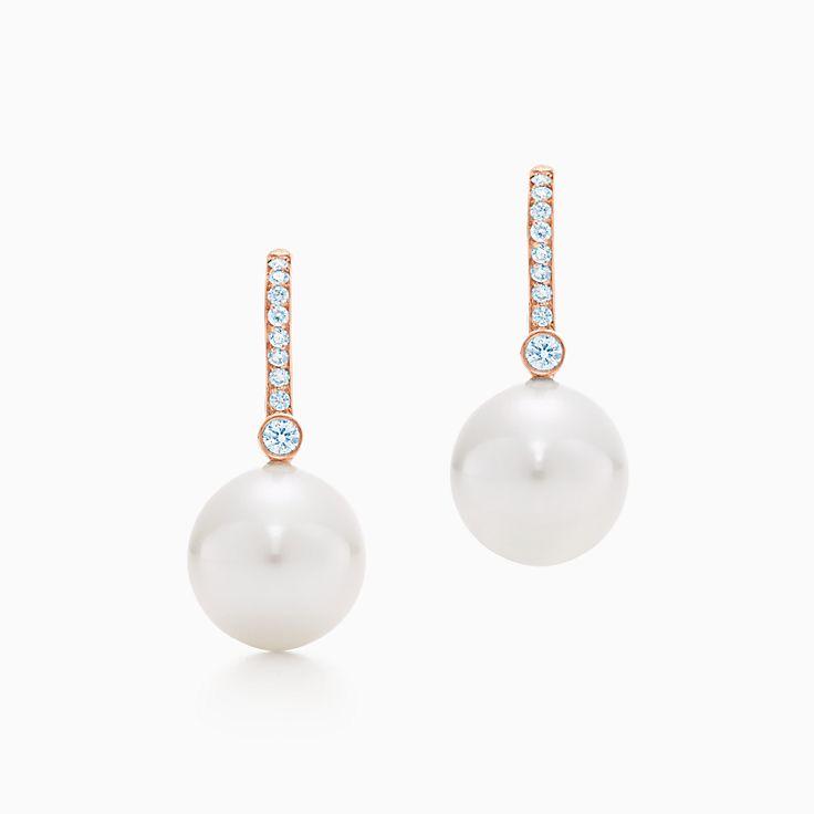 Tiffany South Sea Noble:Серьги с жемчугом