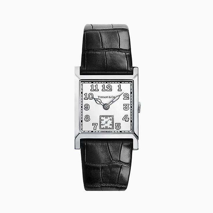 Tiffany Square:2-Zeiger-Uhr, 27mm