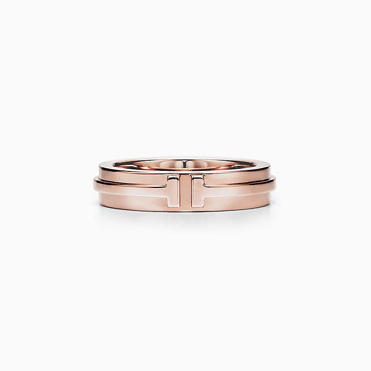 Tiffany T: anillo doble angosto