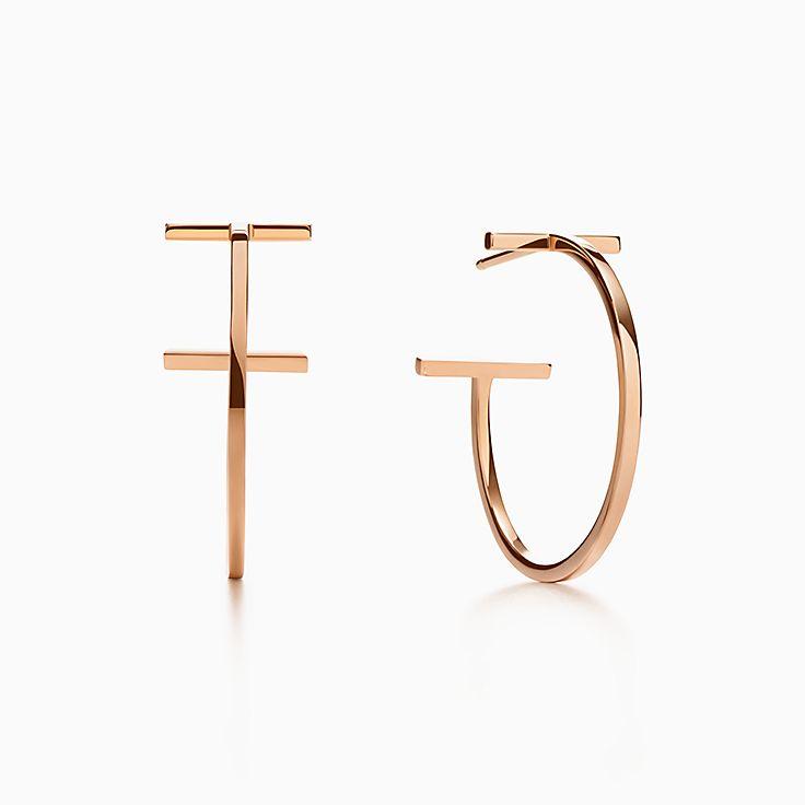 Tiffany T: Orecchini a Cerchio Wire