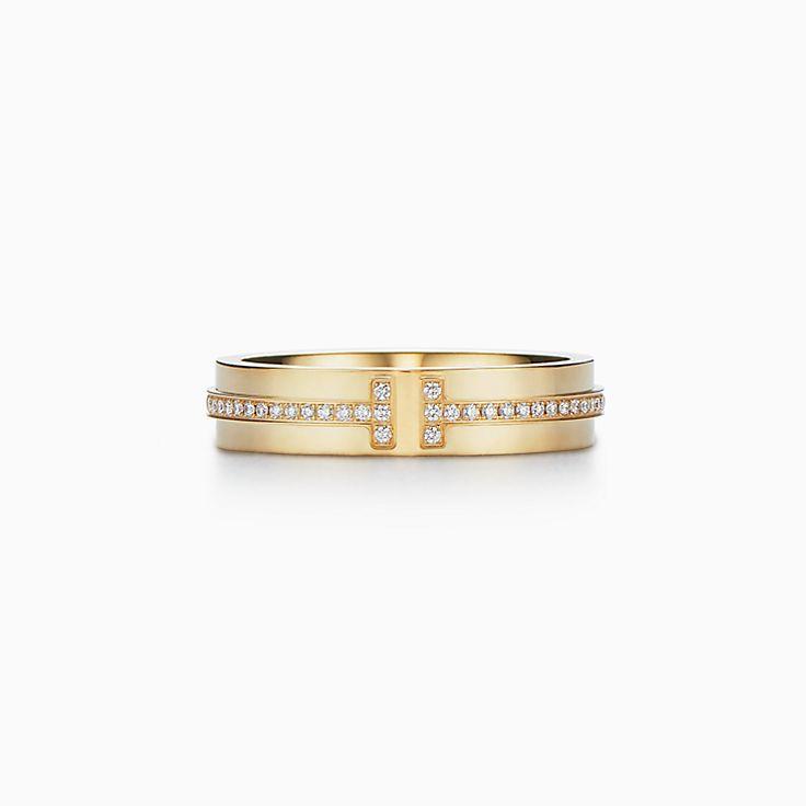 Tiffany T: узкое кольцо Two