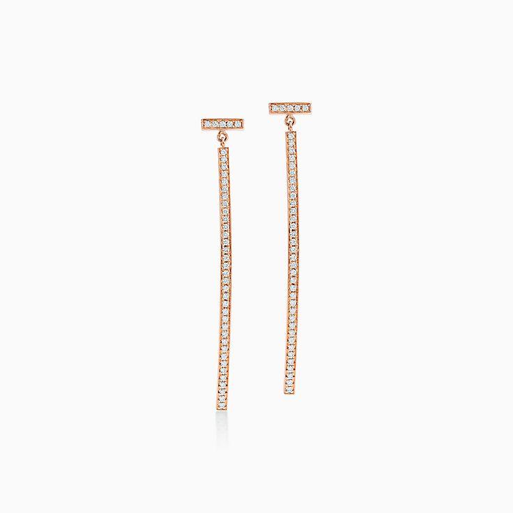 Tiffany T:Серьги Wire в виде планки