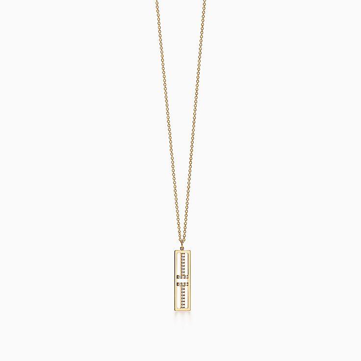 Tiffany T:Two: подвеска в виде открытой вертикальной планки
