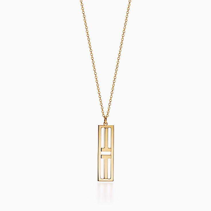 Tiffany T:Two Open Vertical Bar Pendant