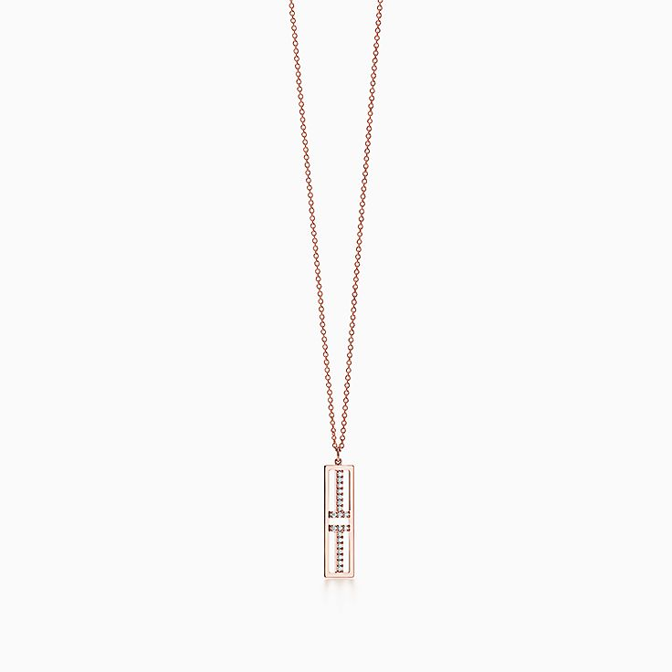 Tiffany T:Two Open Vertical Bar Pendant