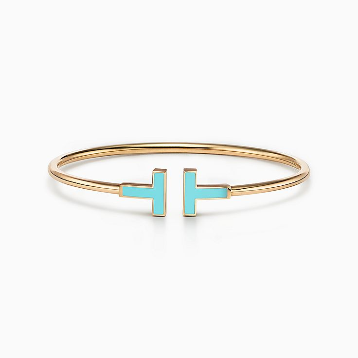 Tiffany T:Wire Armband mit Türkis in 18KaratGold