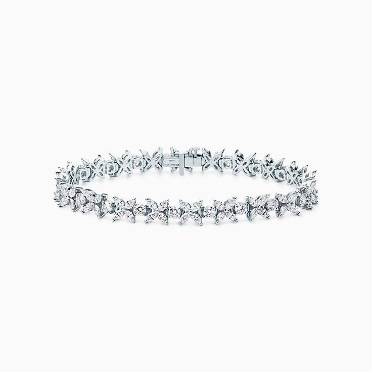 Tiffany Victoria™:Браслет с чередованием элементов из бриллиантов
