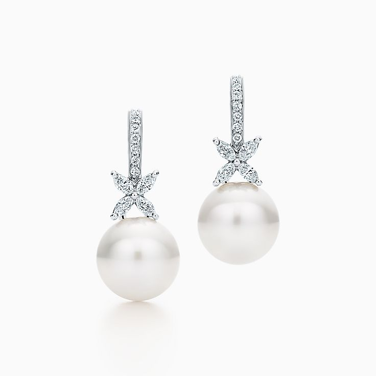 Tiffany Victoria®:Pearl and Diamond Earrings