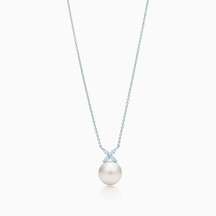 Tiffany Victoria®:Pearl and Diamond Pendant