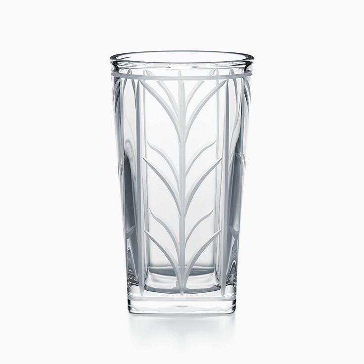 Wheat Leaf:Vase in Crystal Glass