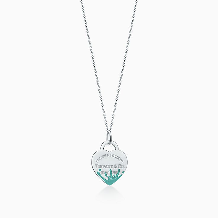 Tiffany Charms Valuable tag in sterling silver with a diamond, medium Tiffany & Co.