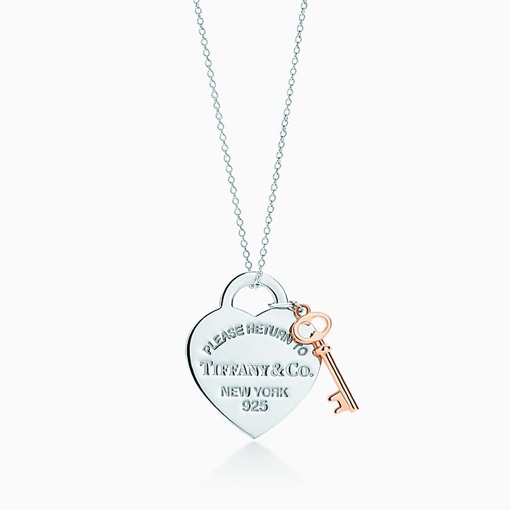 420b21484 Return to Tiffany® heart key pendant in silver and Rubedo® metal, medium. |  Tiffany & Co.
