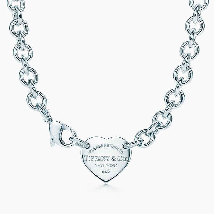 Return To Tiffany Heart Tag Choker In Sterling Silver Tiffany