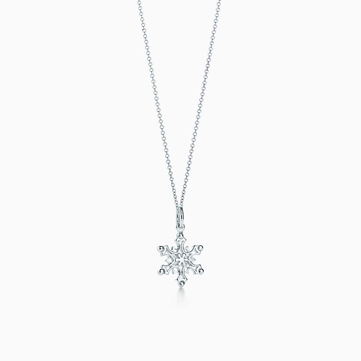 c7fadbdb9 Snowflake charm in sterling silver on a chain. | Tiffany & Co.