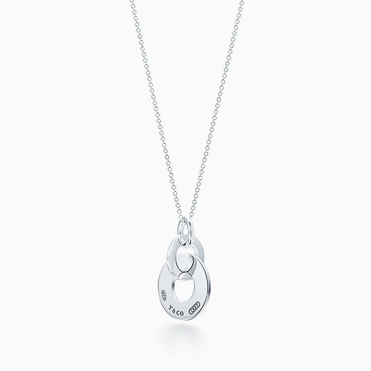 98004a239 Tiffany 1837® interlocking drop pendant in sterling silver, small. | Tiffany  & Co.
