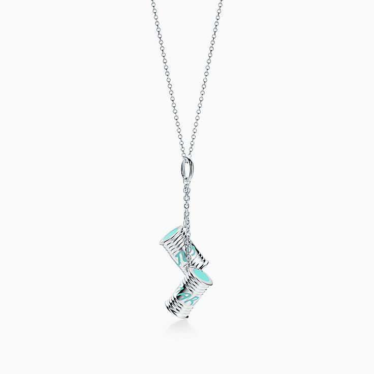 """Berloque """"Just Married"""" Tiffany Charms prata de lei com acabamento Tiffany  Blue. 8c55868227"""