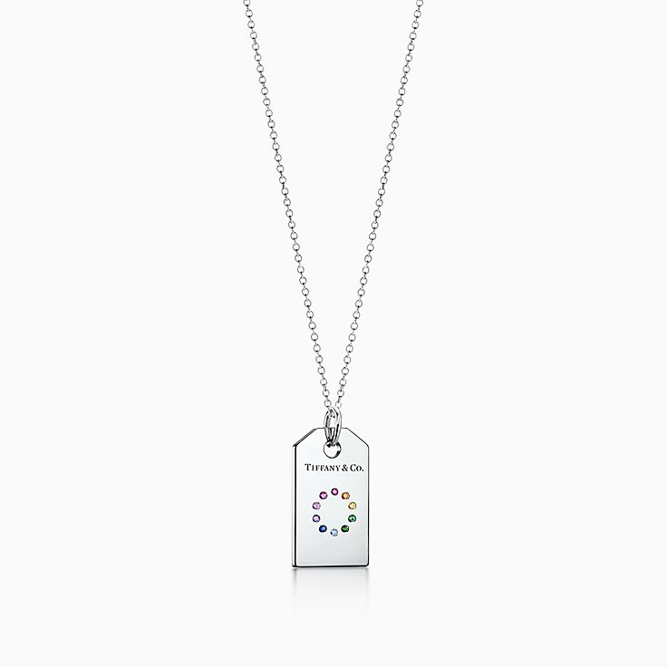 Tiffany Charms colour wheel tag in 18ct white gold with coloured gemstones Tiffany & Co. JqbhKJOr