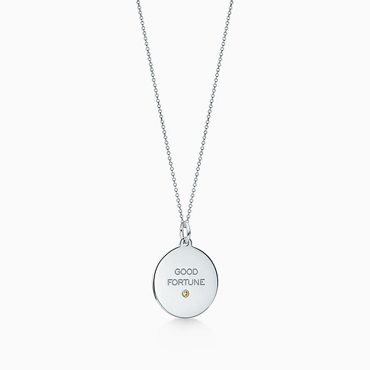 Browse sterling silver necklaces pendants tiffany co httpsmediatiffanyisimagetiffanyecombrowsemtiffany charms good fortune tag 62457686984366sv1gopusm100100600defaultimage audiocablefo
