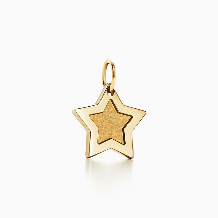 Charms for bracelets necklaces tiffany co tiffany charms super star charm in 18k gold aloadofball Image collections