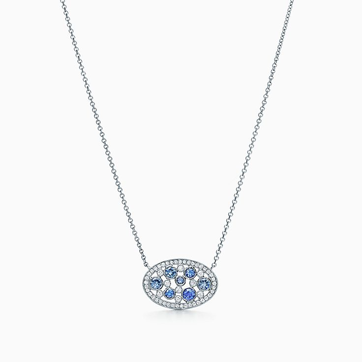 co m solitaire in saphire p oval blue shane pendant ice necklaces sapphire