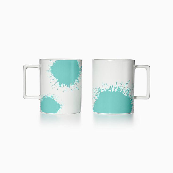 - Tiffany Color Splash Mugs In Bone China, Set Of Two. Tiffany & Co.