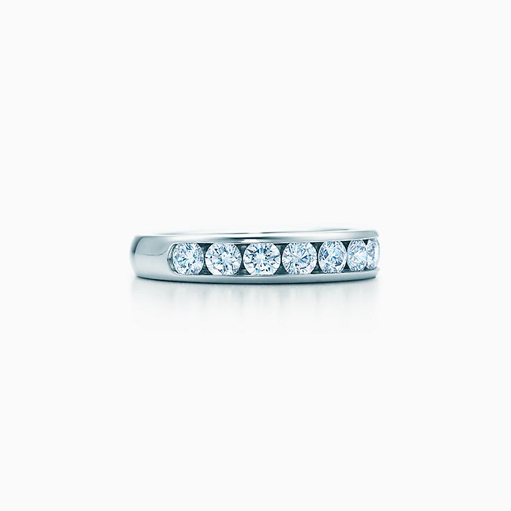 8cf6114fa Tiffany® Diamond Wedding Band in platinum, 3.9 mm wide. | Tiffany & Co.