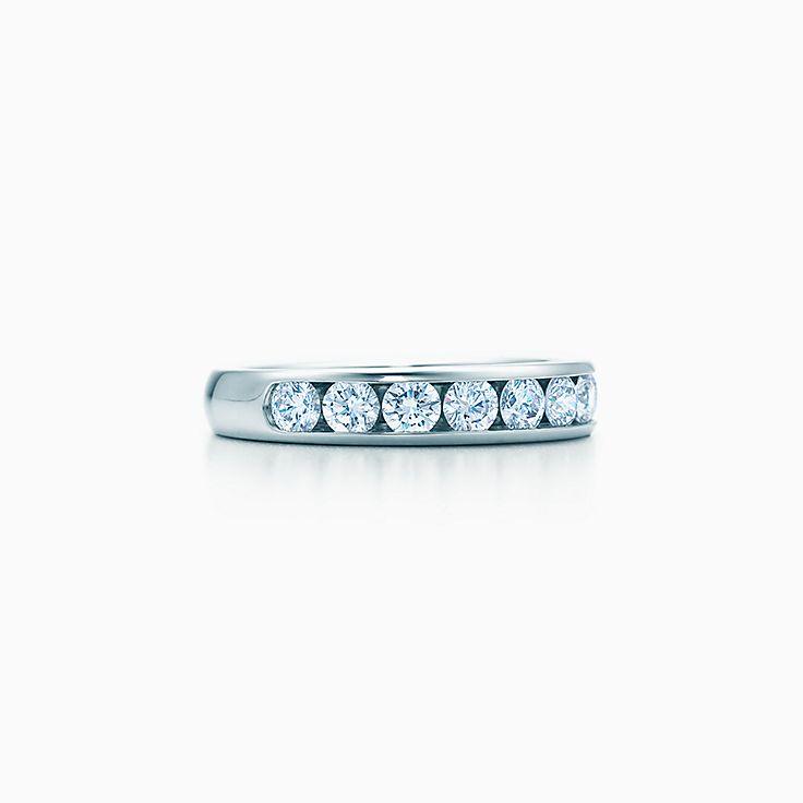 Tiffany Diamond Wedding Band In Platinum 3 9 Mm Wide Tiffany Co
