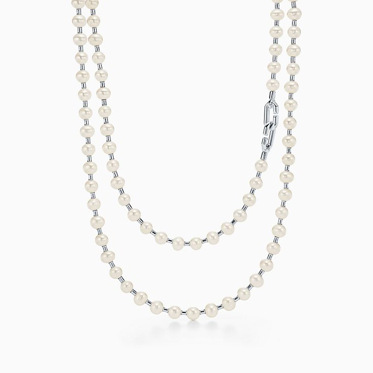 Sterling Silver Wrapped Freshwater Pearl Necklace and Earring Set Sale
