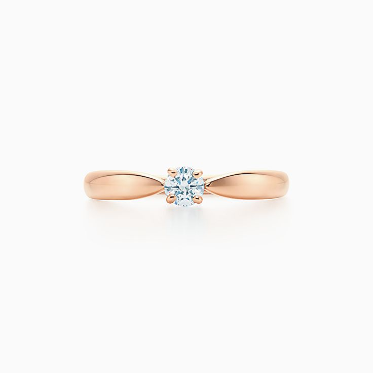 Browse Diamond Rings In 18k Rose Gold Tiffany Co