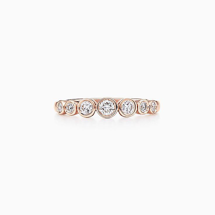 18k Rose Gold Rings Tiffany Co
