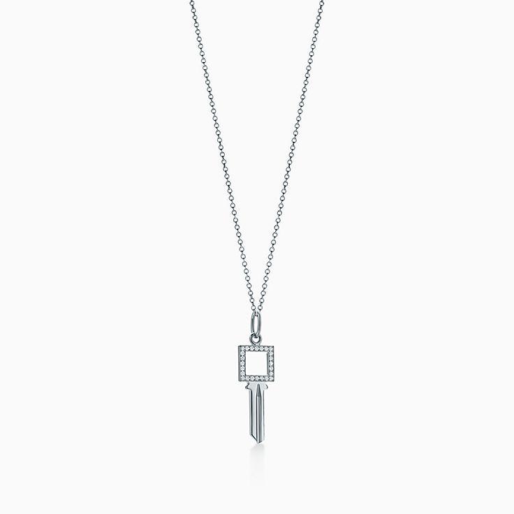 18k white gold necklaces pendants tiffany co new aloadofball Choice Image