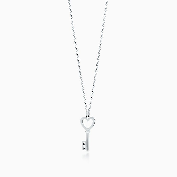 Tiffany Keys Heart Key Pendant In Sterling Silver Mini Tiffany Co