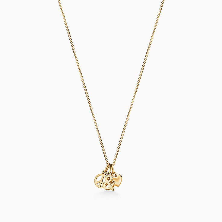 """Tiffany & Love Anhänger """"Peace and Love"""" in 18 Karat Gold"""