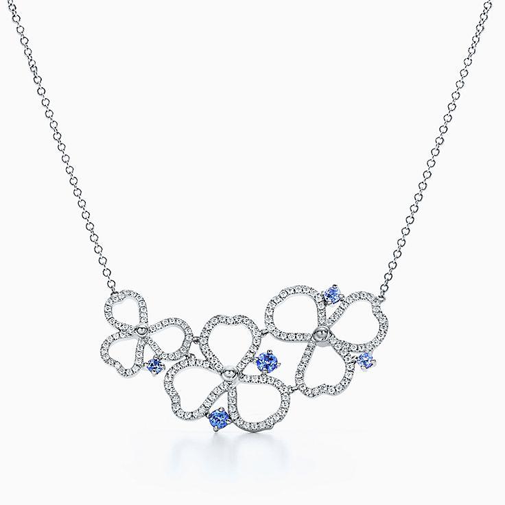 Tanzanite necklaces pendants tiffany co httpsmediatiffanyisimagetiffanyecombrowsemtiffany paper flowers diamond and tanzanite open cluster necklace 61698213984484sv1gopusm aloadofball Gallery