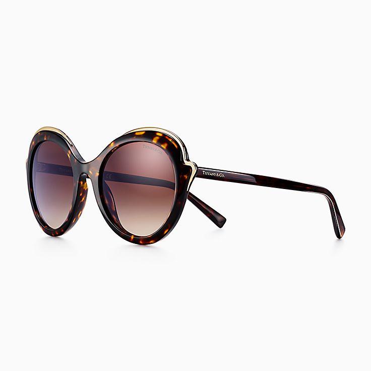 Gafas de sol de ojo de gato de Tiffany Paper Flowers en acetato carey. 785bd550127e