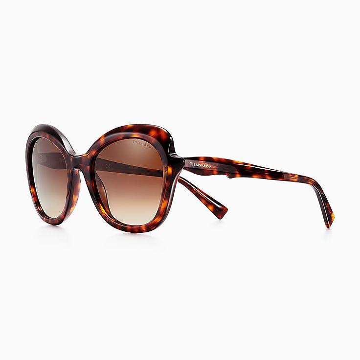 5b36e44d3f2 Tiffany Paper Flowers rectangular sunglasses in tortoise acetate.
