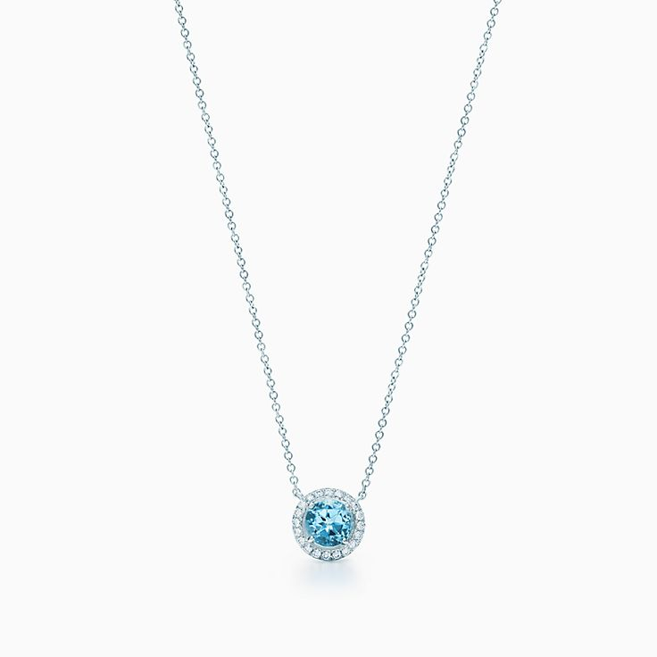 bbbgem pendant white birthstone necklace marine hollow march jewelry gold flower aqua diamond aquamarine