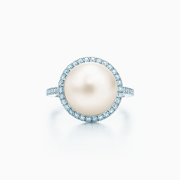saltwater with jewellery diamond halo engagement ring rings rose pearl