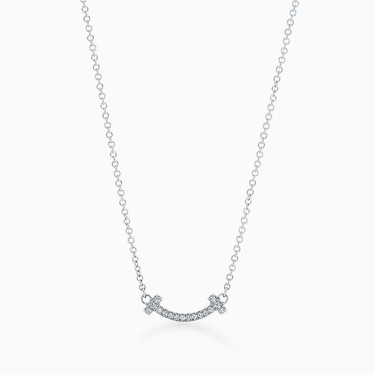 18k white gold necklaces pendants tiffany co httpsmediatiffanyisimagetiffanyecombrowsemtiffany t smile pendant 62617802986304sv1gopusm100100600defaultimage aloadofball Choice Image