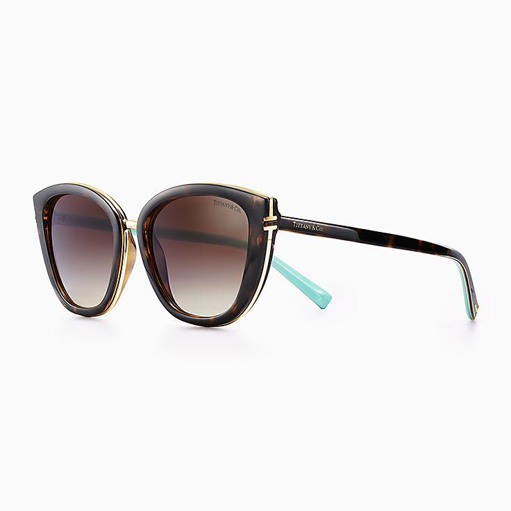 5bf177b8001 Tiffany T square sunglasses in tortoise acetate.