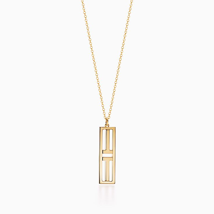 18k gold necklaces pendants tiffany co httpsmediatiffanyisimagetiffanyecombrowsemtiffany t two open vertical bar pendant 60991294985538sv1gopusm100100600defaultimage aloadofball Choice Image